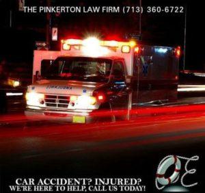 Ambulance at a car accident