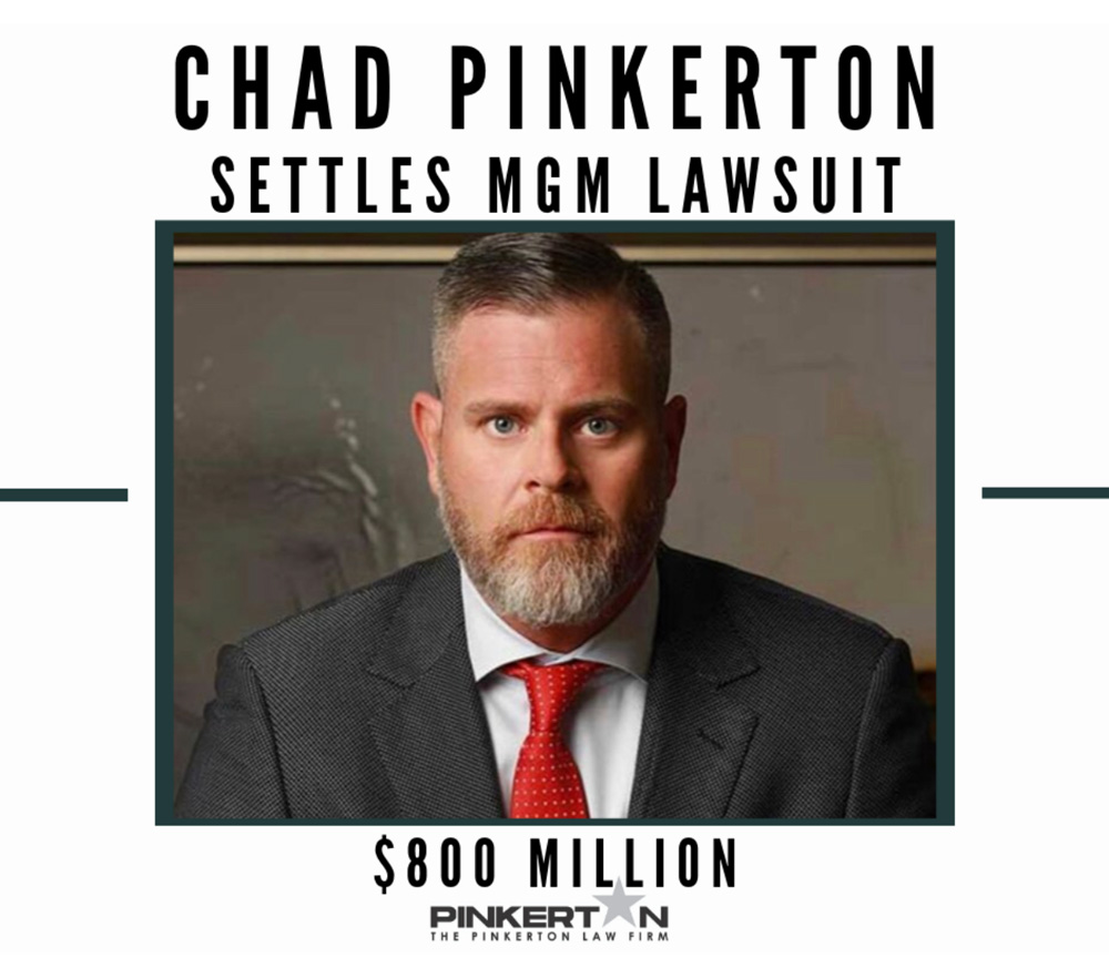Chad Pinkerton settles MGM lawsuit