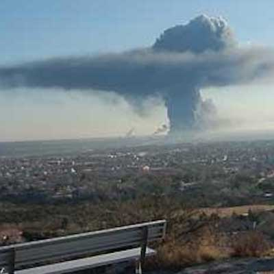 Waco fertilizer plant explosion from a distance