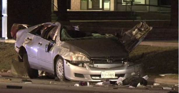 Damaged car after accident