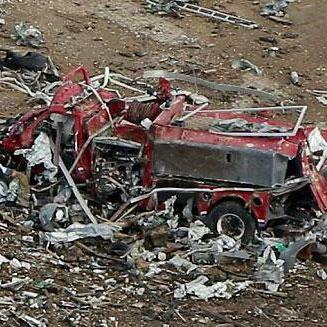 Devastation after explosion
