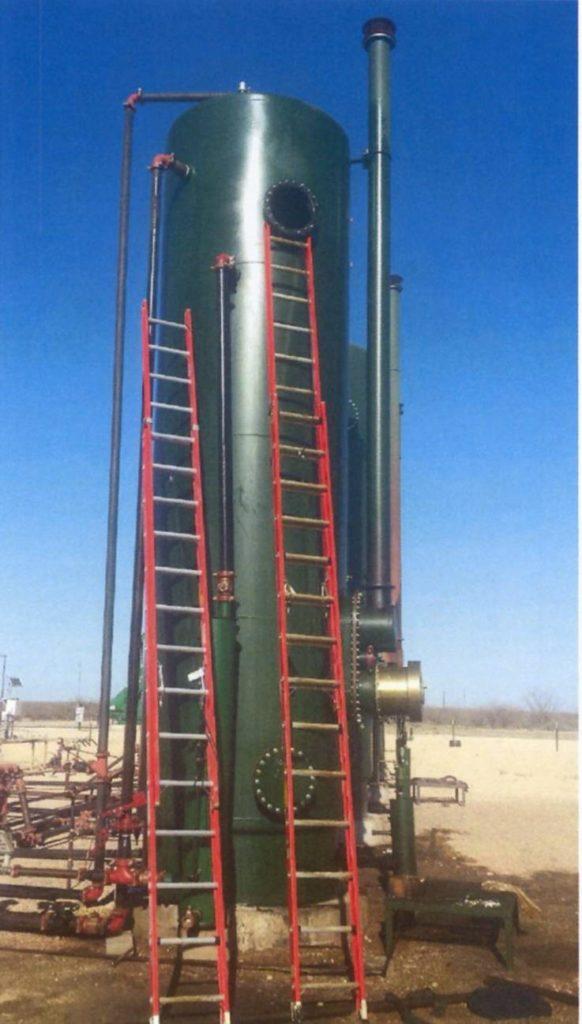Outdoor high pressure tank